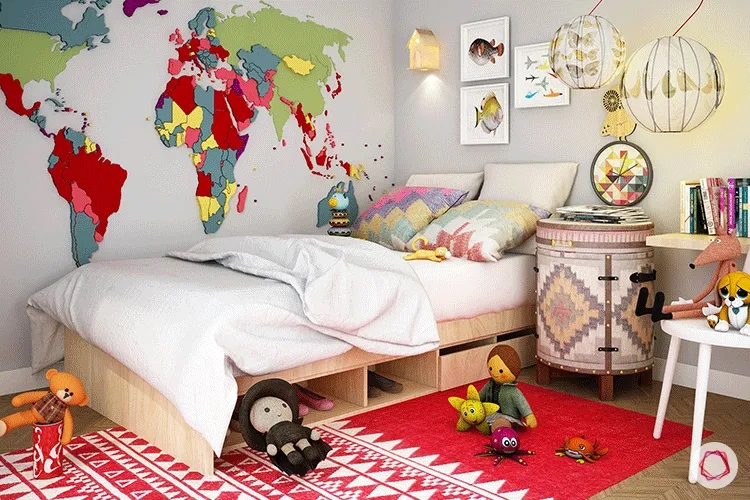 Tips for decorating a children's room in a versatile way